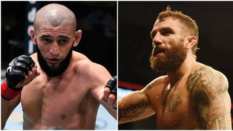 UFC duo Khamzat Chimaev and Michael Chiesa. © Getty Images / USA Today Sports