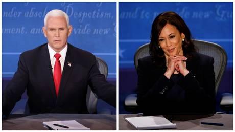 Mike Pence (L) © Reuters / Lucy Nicholson; Kamala Harris (R) © Reuters / Brian Snyder