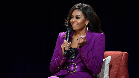 FILE PHOTO: Former First Lady Michelle Obama, May 11, 2019 in Atlanta, Georgia
