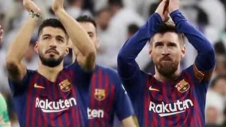 Former teammates: Luis Suarez and Lionel Messi