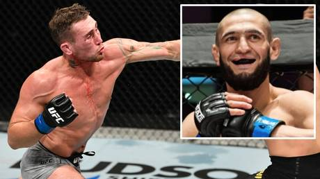 Offer: Darren Till has hinted at a possible future matchup with Khamzat Chimaev (inset)