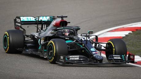 Landmark win: Lewis Hamilton