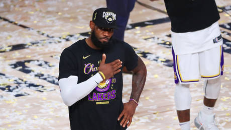 LeBron James won a fourth NBA championship when the Lakers beat the Miami Heat. © Getty Images via AFP