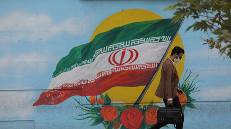 A mural in Tehran, Iran October 10, 2020.