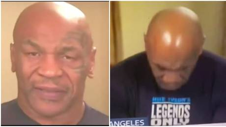 Fans expressed concern for boxing great Mike Tyson after his UK TV interview. © Screenshot Twitter