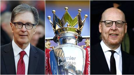 Liverpool owner John Henry and Manchester United co-owner Avram Glazer. © Reuters