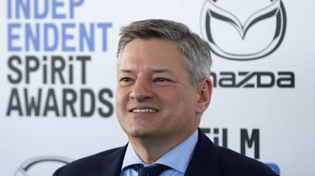 Netflix's Ted Sarandos is shown arriving at an awards show in February.