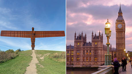 The Angel of the North © Wikipedia / Picnicin; © Corbis via Getty Images / Frédéric Soltan