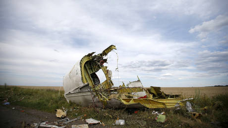 Wreckage at the crash site of Malaysia Airlines Flight MH17, Donbass Region, Ukraine. © Reuters / Maxim Zmeyev