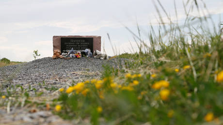 FILE PHOTO: Toys are placed at a memorial to victims of Malaysia Airlines Flight MH17 plane crash near the village of Hrabove in Donetsk Region, Ukraine June 19, 2019