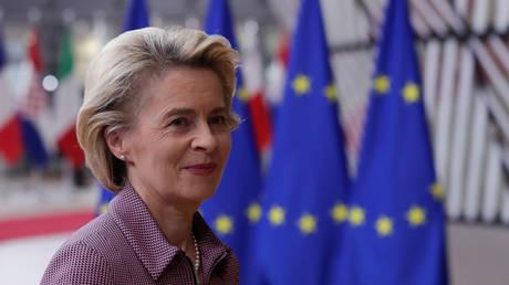 European Commission President Ursula von der Leyen is seen prior to an EU summit in Brussels, Belgium, October 15, 2020. © Reuters / Olivier Hoslet / Pool