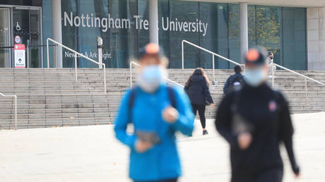 Nottingham Trent University in Nottingham, after Prime Minister Boris Johnson set out a new three-tier system of alert levels for England following rising coronavirus cases and hospital admissions