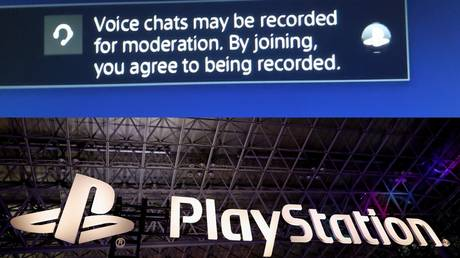A screen capture (above) shows an alert to PlayStation's new recording feature, while the system's logo was shown at a game show last year in Japan (below).