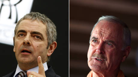 (L) Rowan Atkinson © REUTERS/Alex Domanski; (R) John Cleese © Getty Images/Marianna Massey/WireImage
