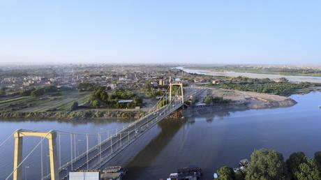 Khartoum, Sudan: Tuti Island, where the White Nile and Blue Nile merge to form the main Nile.