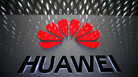 FILE PHOTO: A Huawei company logo at the Shenzhen International Airport, China © Reuters / Aly Song