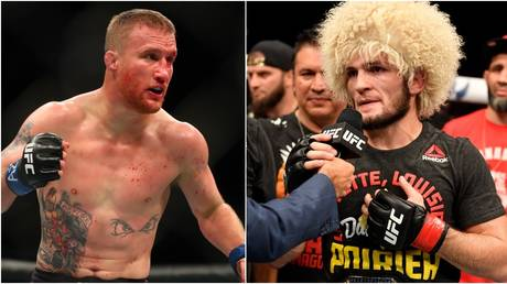 Gaethje will aim to dethrone Khabib in Abu Dhabi this weekend. © USA Today Sports / Zuffa LLC.