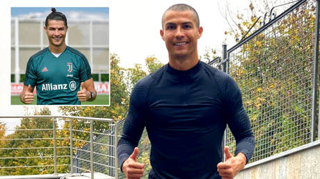 Portugal and Juventus striker Cristiano Ronaldo has shaved his head while he is in isolation after testing positive for the coronavirus © Instagram / cristiano