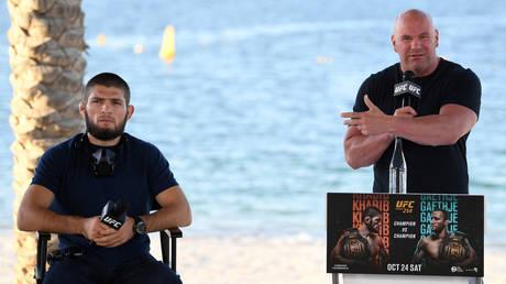 Dana White said Khabib could end up as the GOAT of MMA. © Zuffa LLC