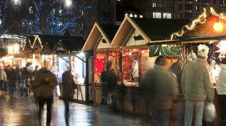 FILE PHOTO: Christmas Market in Edinburgh, Scotland.