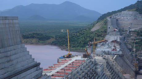 Ethiopia's GERD dam project, shown in a 2019 file photo, is nearly complete nine years after construction began.