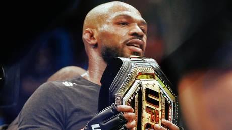 "Staking his claim: Former UFC light heavyweight champion Jon ""Bones"" Jones"