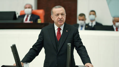 Turkish President Tayyip Erdogan (FILE PHOTO) © Murat Cetinmuhurdar/Presidential Press Office/Handout via REUTERS