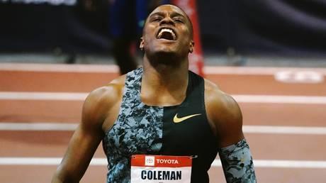 Banned: Sprint star Christian Coleman