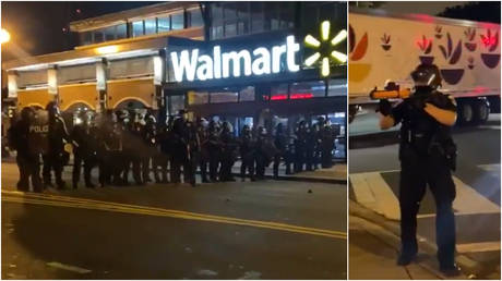 Police respond to protests in Washington, DC over the death of 20-year-old Karon Hylton, who succumbed to injuries sustained in a moped crash during an attempted traffic stop.