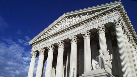 FILE PHOTO: The exterior of the Supreme Court building in Washington, D.C.