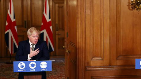 Britain's Prime Minister Boris Johnson at Downing Street in London, Britain, October 22, 2020