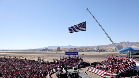 US President Donald Trump holds a campaign rally in Bullhead City, Arizona, US, October 28, 2020