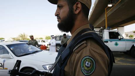 FILE PHOTO: A Saudi police officer