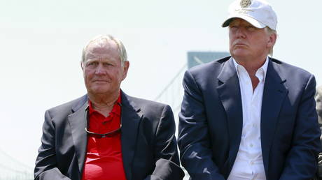 Nicklaus and Trump pictured in 2015. © Reuters