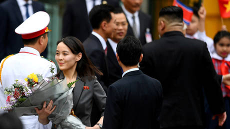 FILE PHOTO: Kim Yo Jong, sister of North Korean leader Kim Jong Un, arrives for the welcoming ceremony at the Presidential Palace in Hanoi, Vietnam March 1, 2019