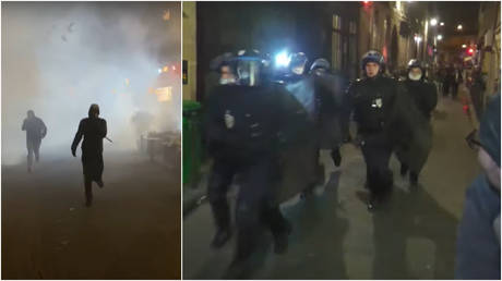 Protesters in Paris, France face down riot police and tear gas as they demand an end to a second national lockdown, imposed to stem the spread of the coronavirus.