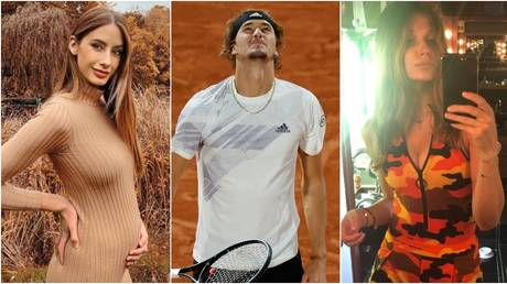 Zverev has responded to the news that former girlfriend Patea (L) is pregnant, and the accusations from another former partner, Sharypova. © Instagram @brendapatea / @olyasharypova / Reuters