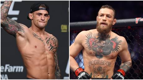 Poirier and McGregor are set for a UFC clash in January. © USA Today Sports