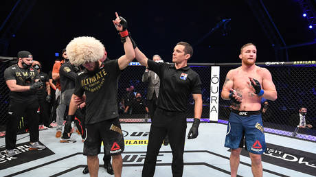 Khabib defeated Justin Gaethje in what he said would be his final fight. © Sputnik