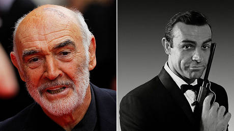 © REUTERS/David Moir/File Photo; SEAN CONNERY in 007, JAMES BOND NEVER SAY NEVER AGAIN (1983)
