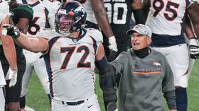 'Head to the f*cking locker room!' Denver coach Vic Fangio REFUSES post-fight handshake after VIOLENT end to Broncos-Jets clash