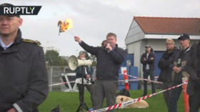 Danish far-right activists stage Koran-burning stunt in Muslim-populated neighborhood (VIDEO)