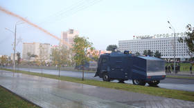 Almost two months after disputed vote, Belarusian police deploy water cannon, make arrests at Minsk anti-Lukashenko rally VIDEOS)