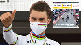 'I overdid it': Irish cycling star VOMITS mid-race as he blames overeating for bizarre scenes (VIDEO)
