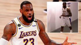 'Super poor sportsmanship': Fans slam LeBron James after star storms off court 10 seconds before end of shock NBA defeat (VIDEO)