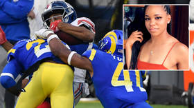 'He gonna have to see me': NFL star brawls with rival who 'cheated on his sister with a stripper' while she was pregnant (VIDEO)