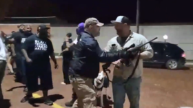'America don't give a f**k about us': WATCH BLM vigil group clash with armed, pro-Trump militia in Texas