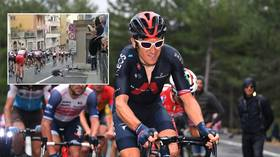 Double Olympic gold medalist Geraint Thomas FRACTURES PELVIS after crashing over discarded water bottle at Giro d'Italia (VIDEO)