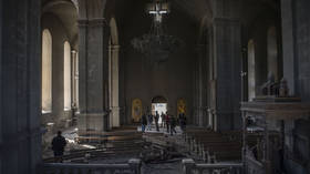 Landmark 19th century Christian cathedral in Nagorno-Karabakh damaged during shelling by Azerbaijani forces – Armenian military
