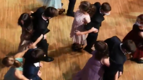 Bizarre viral video of students DANCING BACK-TO-BACK triggers Twitter outrage over 'ludicrous Covid-19 measures'